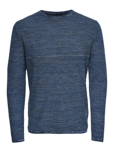 Only & Sons Trui onsWICTOR 12  STRUCTURE CREW NECK N 22012290 Imperial Blue