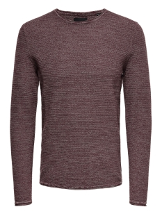 onswictor 12  structure crew neck n 22012290 only & sons trui rose taupe