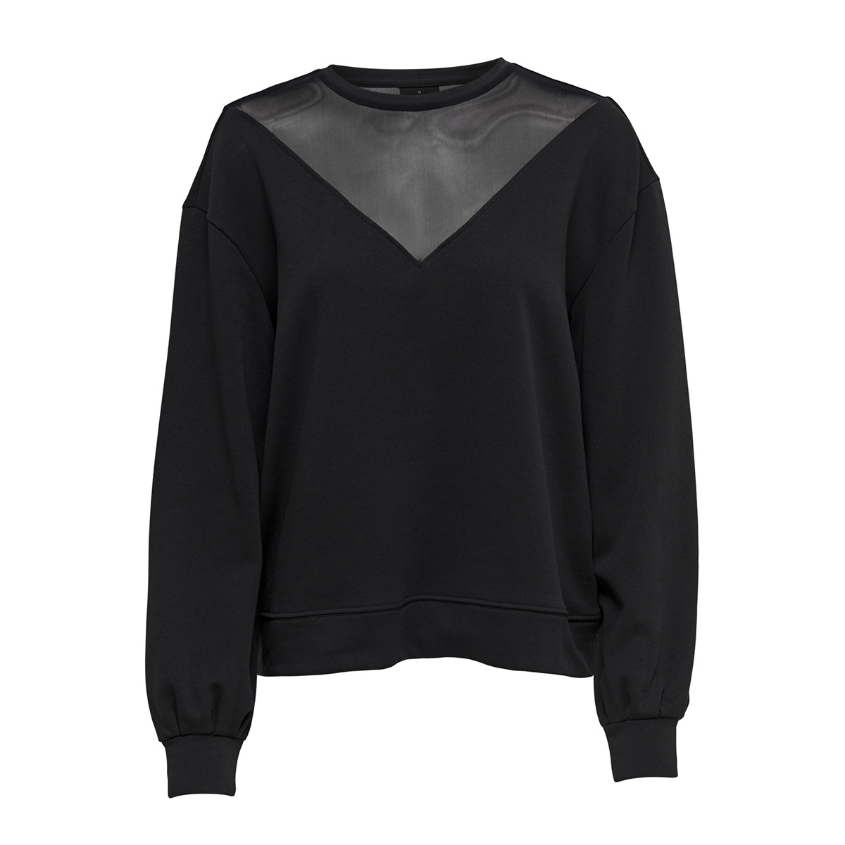 onlelsebeth l/s o-neck sleeve mesh 15168787 only sweater black/dtm mesh