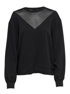 Only sweater onlELSEBETH L/S O-NECK SLEEVE MESH 15168787 Black/DTM MESH