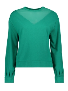 onlelsebeth l/s o-neck sleeve mesh 15168787 only sweater cadmium green/dtm mesh