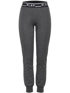 onpluna slim sweat pants prs 15160052 only play sport broek dark grey melange