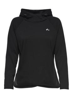 onpjulia hood sweat prs 15159712 only play sport trui black/w. black