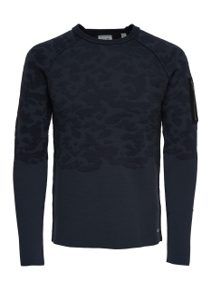 Only & Sons sweater onsTOBI 12 CREW NECK 22006874 Dark Navy