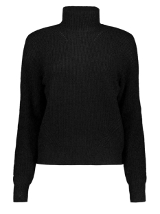 Noisy may Trui NMSATI L/S HIGH NECK HOLE KNIT NOOS 27002435 Black