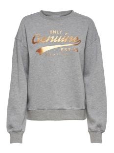 Only sweater onlMATHILDA L/S O-NECK SWT 15170015 Light Grey Mela/GENUINE