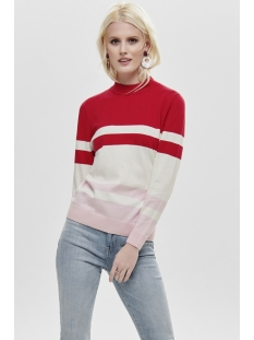 onlrosemarie l/s pullover knt 15168922 only trui goji berry/w.cloud d