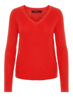Vero Moda Trui VMLEX SUN LS V-NECK BLOUSE COLOR 10197122 Fiery Red
