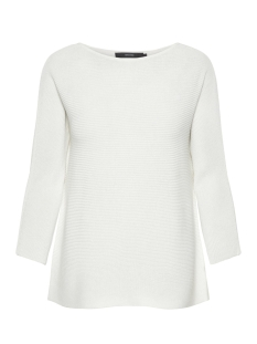 Vero Moda Trui VMNORA 3/4 BOATNECK BLOUSE COLOR 10213020 Snow White