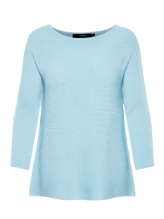 Vero Moda Trui VMNORA 3/4 BOATNECK BLOUSE COLOR 10213020 Cool Blue