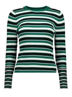 Only Trui onlLAURA L/S STRIPE  PULLOVER CC KN 15170963 Cadmium Green/w. BLACK