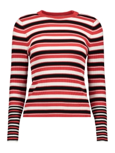 Only Trui onlLAURA L/S STRIPE  PULLOVER CC KN 15170963 Mars Red/Black