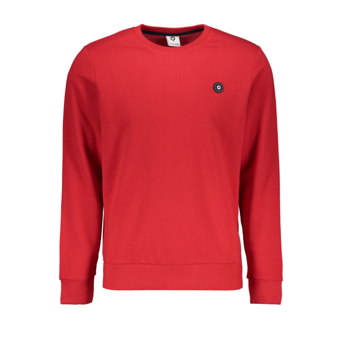 jcoandres sweat crew neck 12150004 jack & jones sweater tango red
