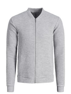 Jack & Jones Vest JPRPAUL BLA. SWEAT ZIP BOMBER 12149159 Light Grey Mela/MELANGE