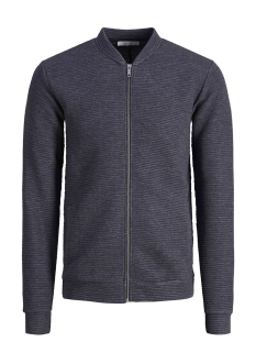 Jack & Jones Vest JPRPAUL BLA. SWEAT ZIP BOMBER 12149159 Navy Blazer/MELANGE