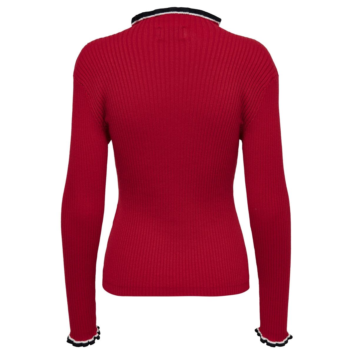 onllaura l/s pullover cc knt 15169588 only trui goji berry/w cloud dancer