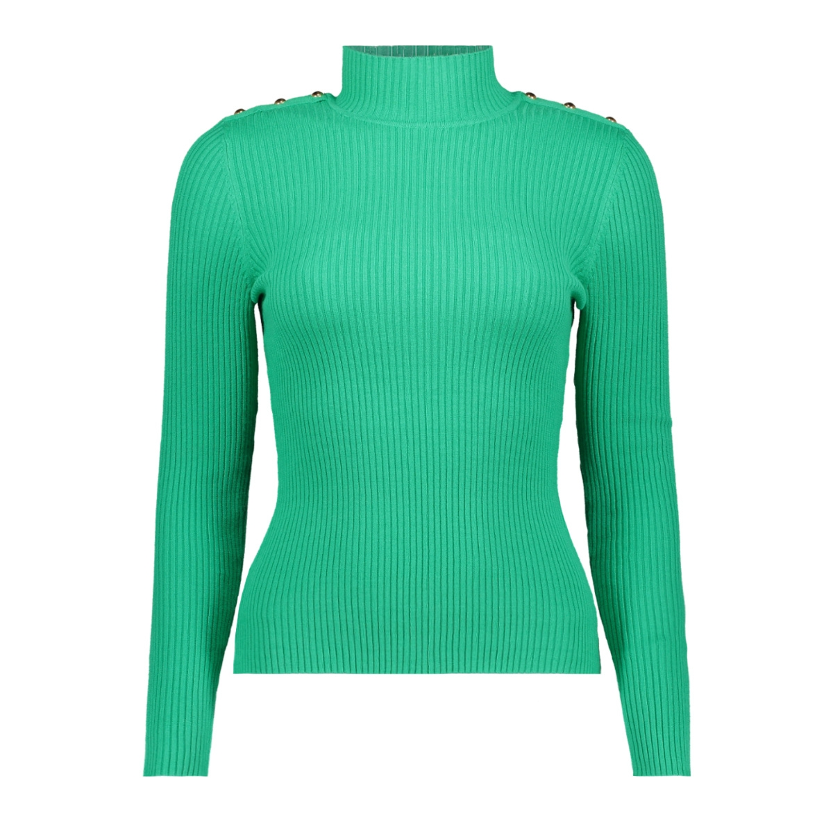 onlkamille l/s button pullover knt 15170659 only trui simply green/w gold but