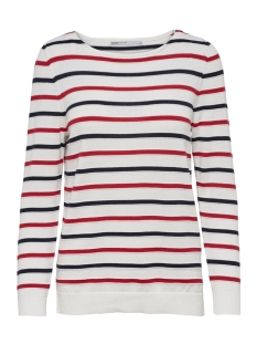 Only Trui onlDELINA L/S PULLOVER KNT 15170617 Cloud Dancer/W MARS RED