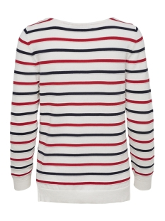 onldelina l/s pullover knt 15170617 only trui cloud dancer/w mars red