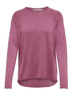 Only Trui onlMILA LACY L/S PULLOVER KNT NOOS 15150242 Rose Wine/MELANGE