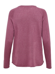 onlmila lacy l/s pullover knt noos 15150242 only trui rose wine/melange