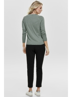 onlmila lacy l/s pullover knt no 15150242 only trui chinois green/melange