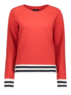 Only sweater onlSOFFY L/S O-NECK CC SWT 15167707 Mars Red/W. CLOUD DANCER