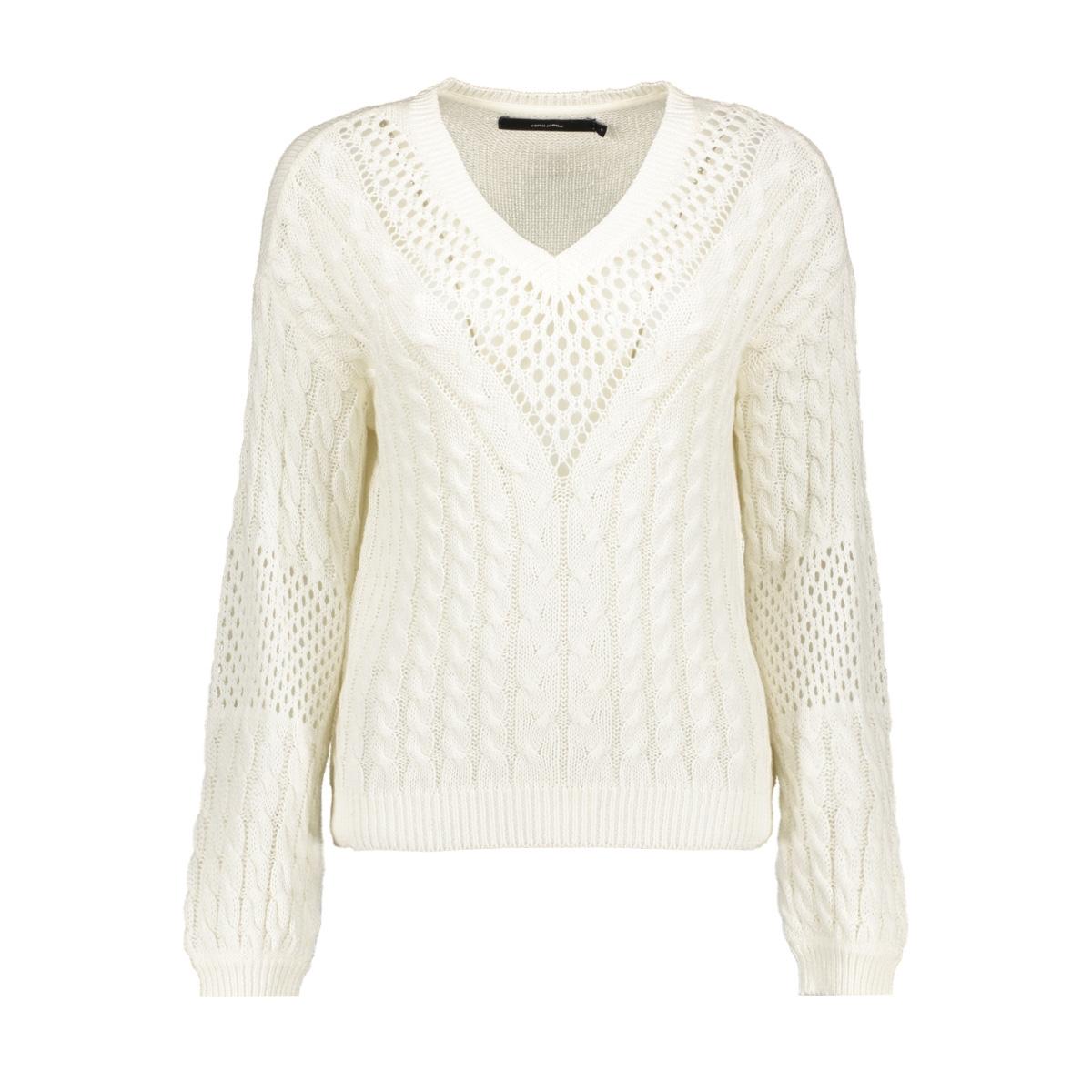 vmpauline ls v-neck blouse 10209918 vero moda trui snow white