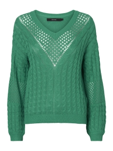 vmpauline ls v-neck blouse 10209918 vero moda trui holly green