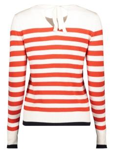 vmdoss lacole ls o-neck blouse boo 10207952 vero moda trui snow white/w. fiery red