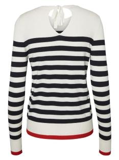 vmdoss lacole ls o-neck blouse boo 10207952 vero moda trui snow white/w. night sky