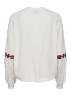 onlkaja l/s pullover knt 15170604 only sweater cloud dancer/w dtm lace