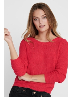 onlgeena xo l/s pullover knt noos 15113356 only trui high risk red