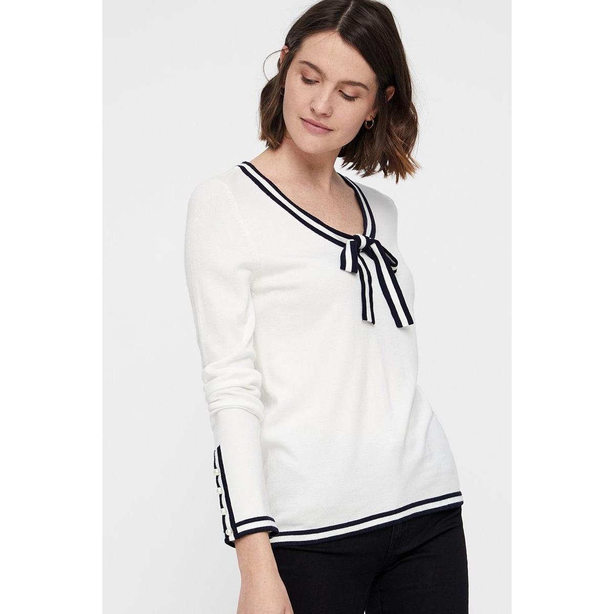 vmlynn glory ls v-neck blouse 10209479 vero moda trui snow white