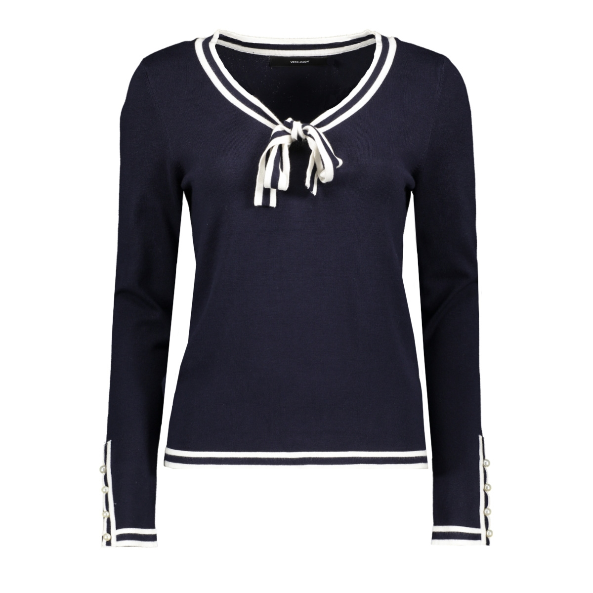 vmlynn glory ls v-neck blouse 10209479 vero moda trui night sky