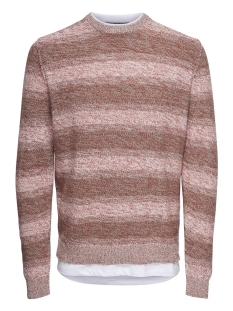 onspage 12 shadow stripe knit 22011967 only & sons trui rooibos tea