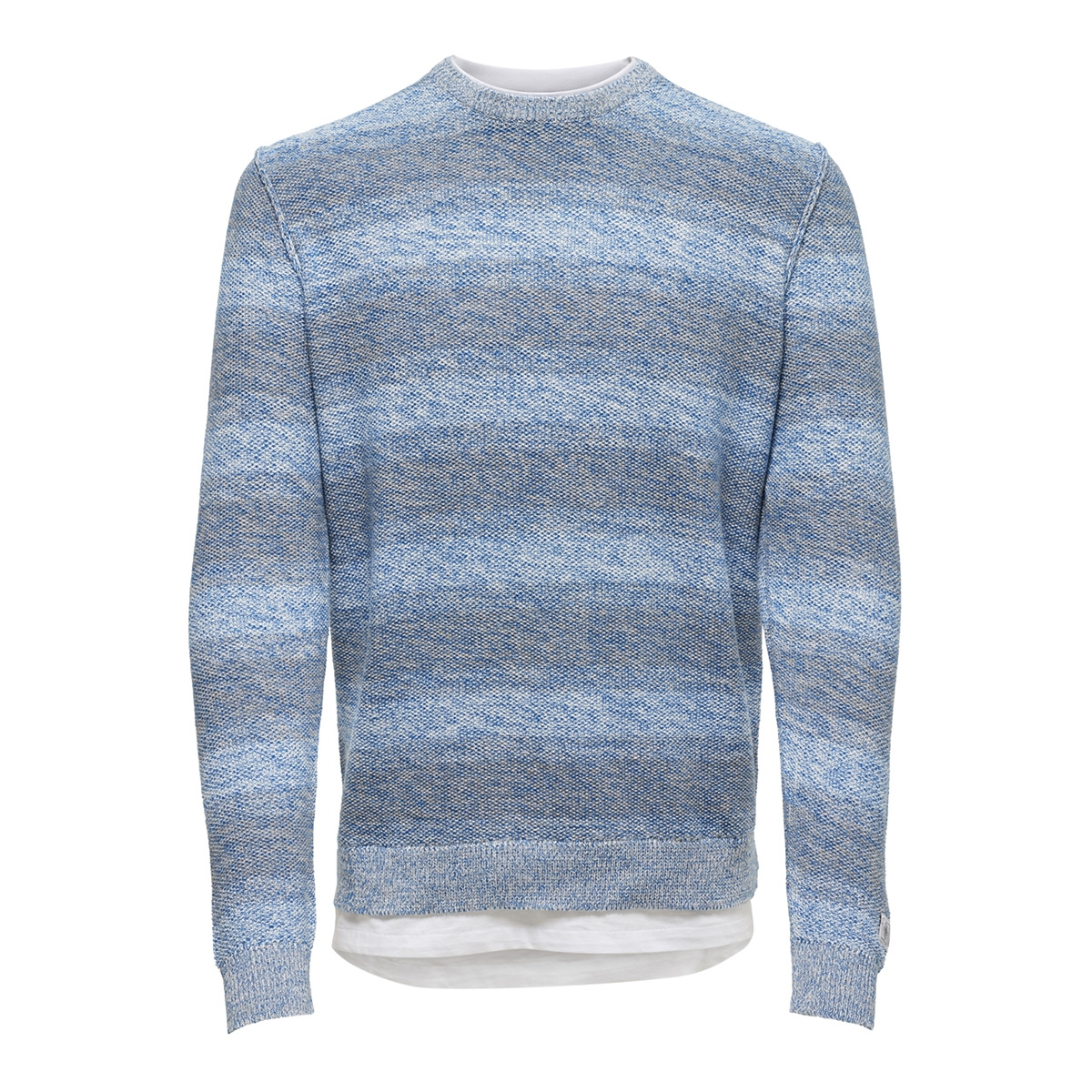 onspage 12 shadow stripe knit 22011967 only & sons trui imperial blue