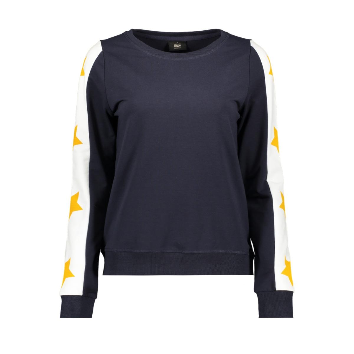 onlpil l/s o-neck cs swt 15174189 only sweater night sky/star mango