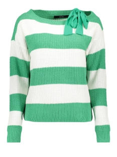 vmspring sibbo ls bow blouse 10209811 vero moda trui snow white/w. holly green