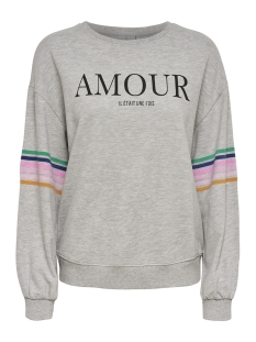 onldaisy ls o-neck swt 15172993 only sweater light grey melange/amour