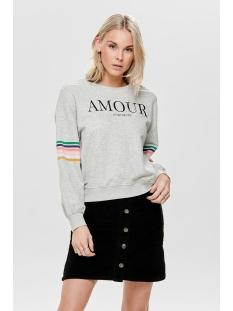 onldaisy ls o-neck swt 15172993 only sweater light grey melange/amour
