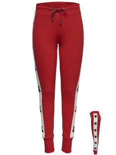 Only Broek onlPIL LONG SLIM PANT CS SWT 15174190 Mars Red/STARS ON S
