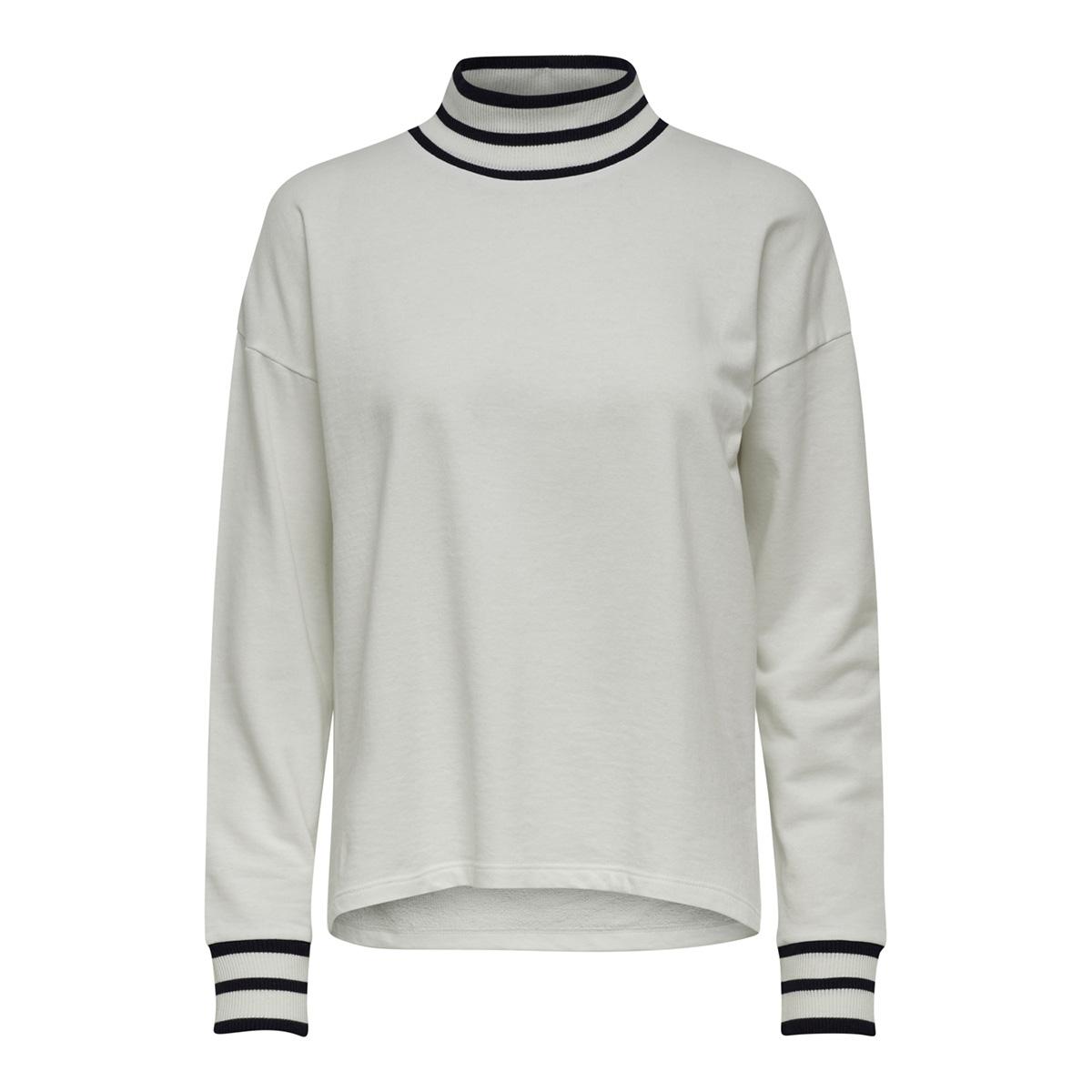 jdybowie l/s rib sweat jrs 15169554 jacqueline de yong sweater cloud dancer/stripes on