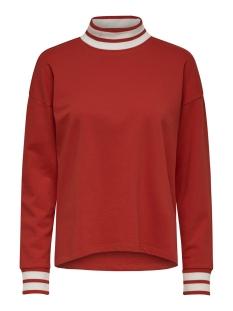 Jacqueline de Yong sweater JDYBOWIE L/S RIB SWEAT JRS 15169554 Fiery Red/W. FIERY RED