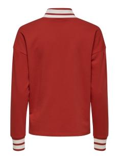 jdybowie l/s rib sweat jrs 15169554 jacqueline de yong sweater fiery red/w. fiery red