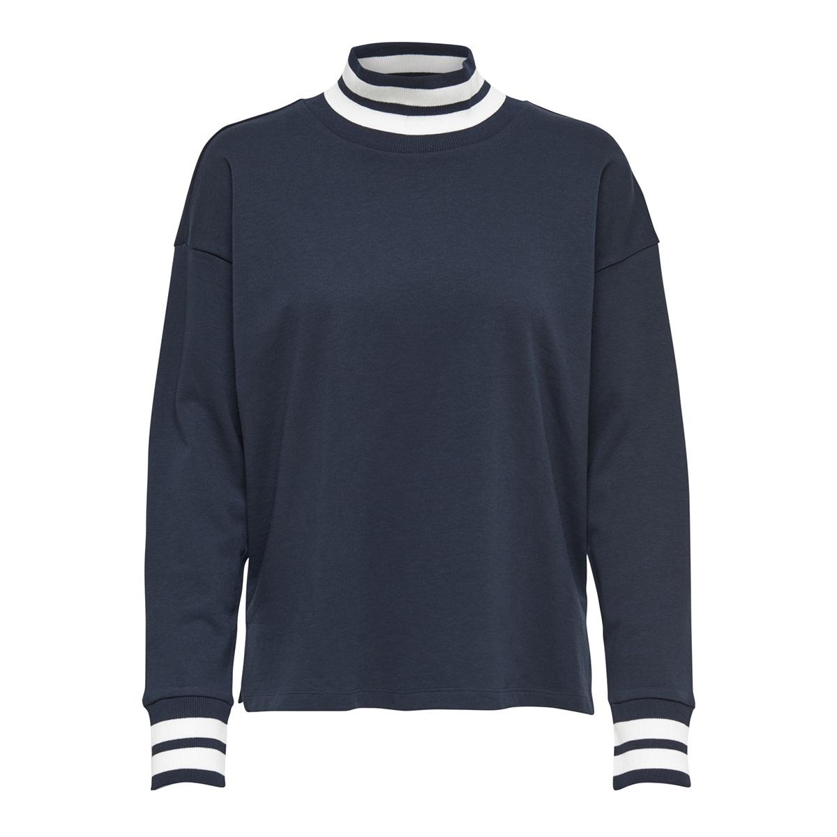 jdybowie l/s rib sweat jrs 15169554 jacqueline de yong sweater sky captain/w. sky captain