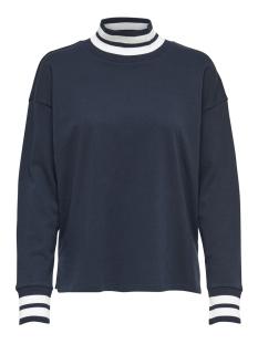Jacqueline de Yong sweater JDYBOWIE L/S RIB SWEAT JRS 15169554 Sky Captain/W. SKY CAPTAIN