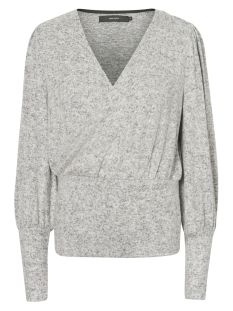 Vero Moda Trui VMMAI ROYANNA LS WRAP BLOUSE 10208457 Light Grey Melange