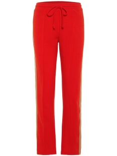 Vero Moda Broek VMGINA TRACK PANTS VMA 10209681 Fiery Red/TWO COLORE