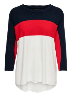 Only Trui onlREGITZE 3/4 PULLOVER KNT NOOS 15157863 Night Sky/HIGH RISK RED
